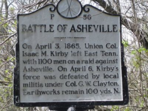 battle of asheville plaque