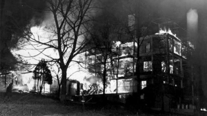 photo of the highland hospital fire