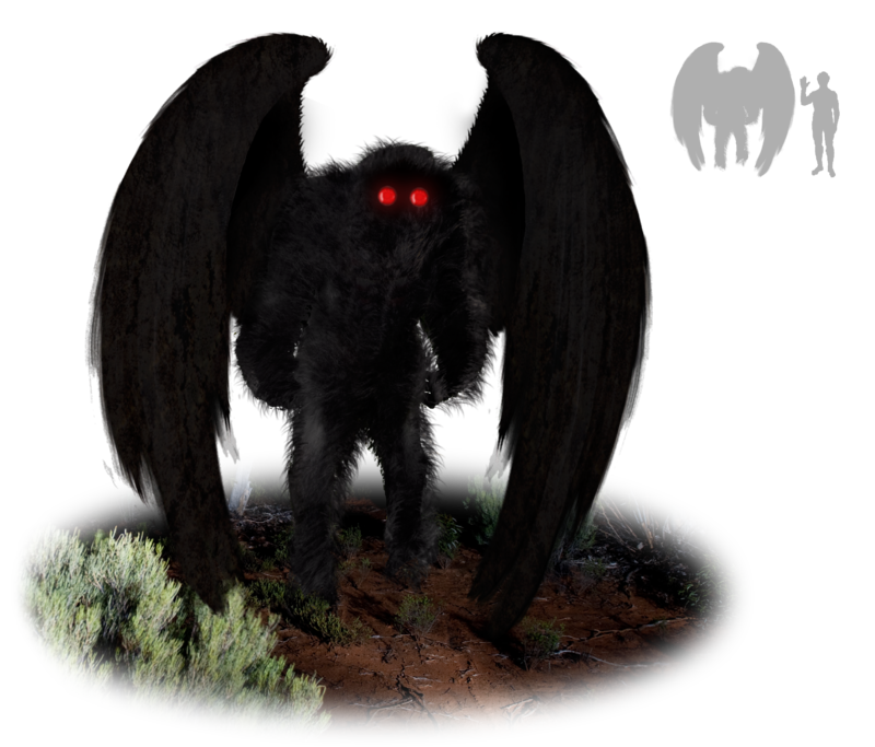 Artist's impression of the mothman