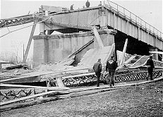 Silver Bridge Collapse seen from the Ohio Side.
