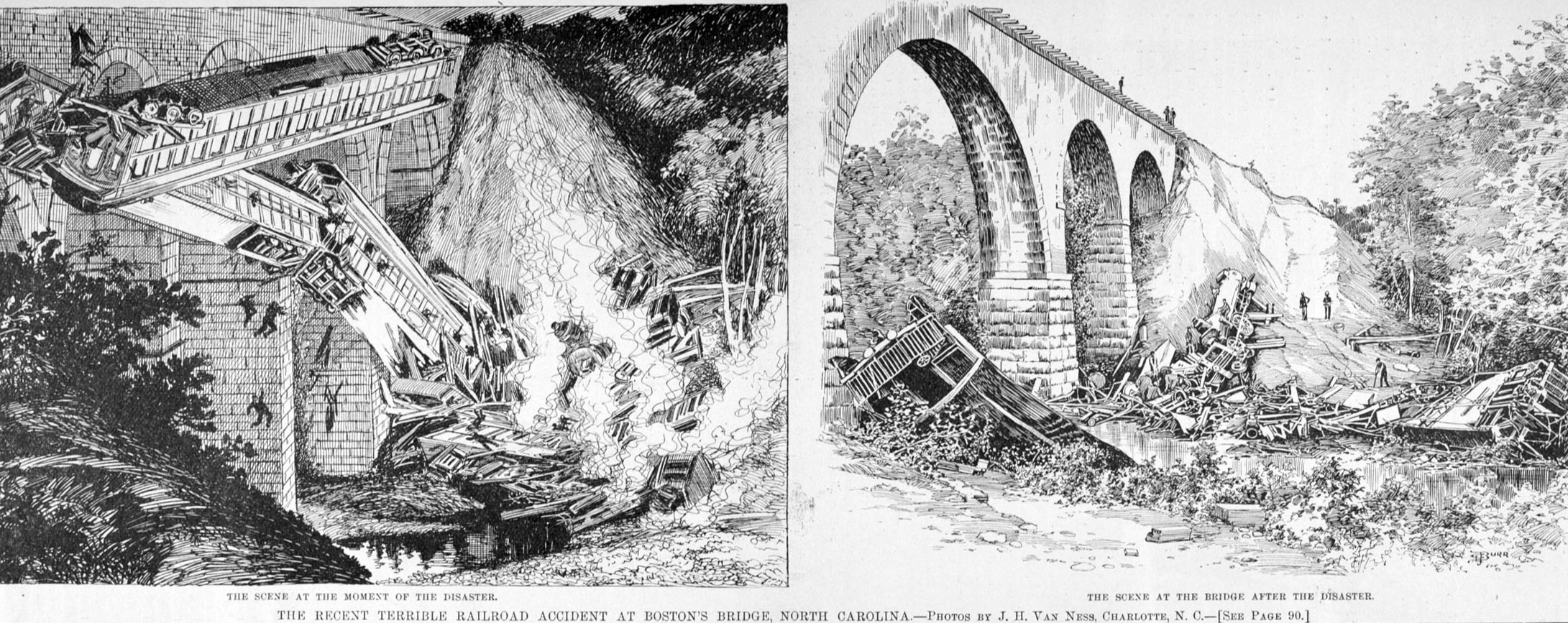 An illustration of the disaster